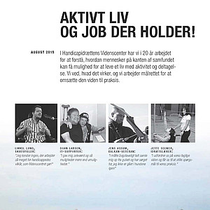 Aktivt liv og job der holder